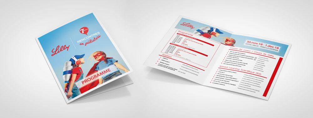 programme leaflet agence communication événement