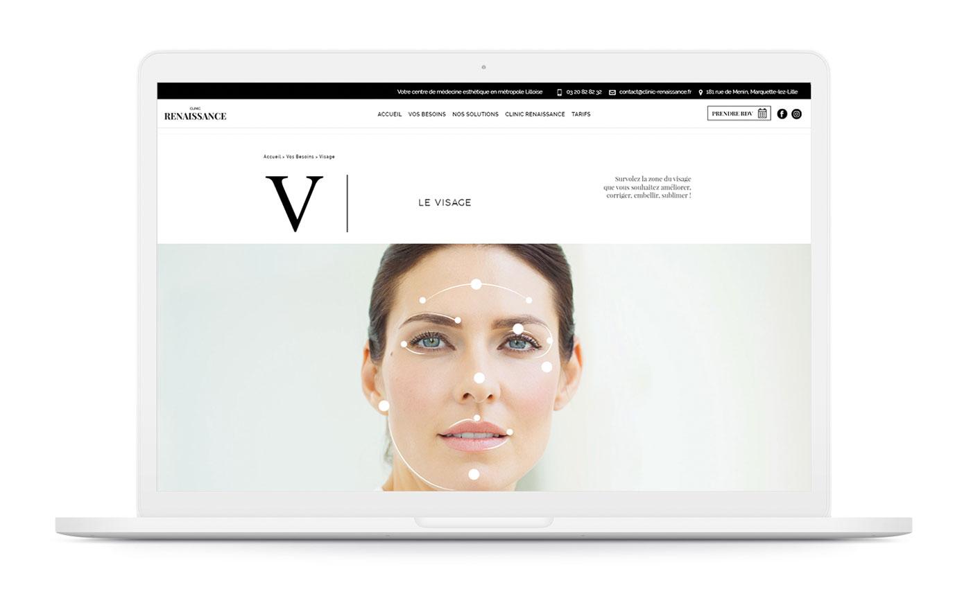 Clinic Renaissance site web agence de communication santé paris nice bali saingapour