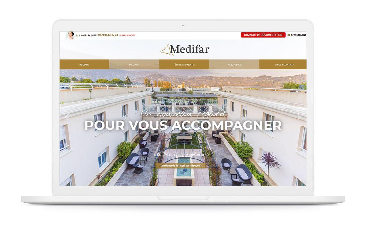 établissement retraite ephad medifar agence karma santé communication nice paris