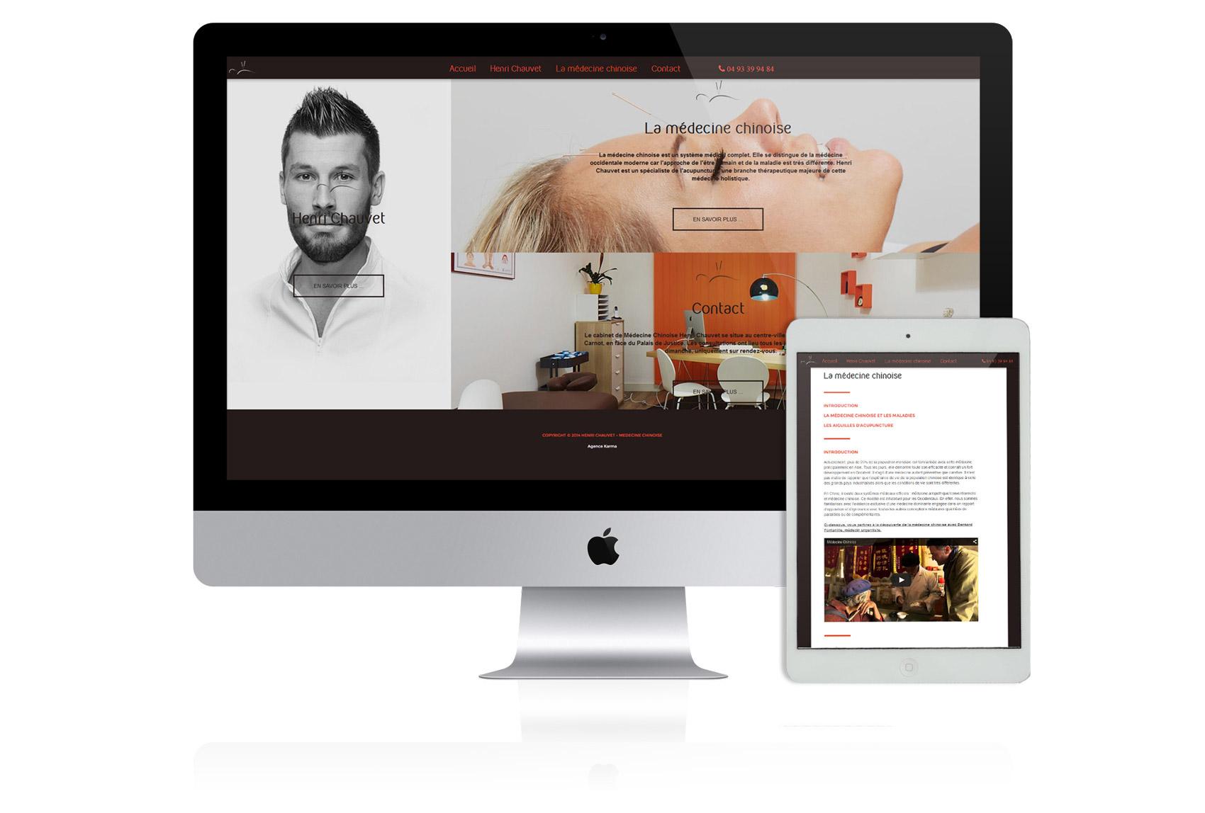 création site web docteur chauvet nice