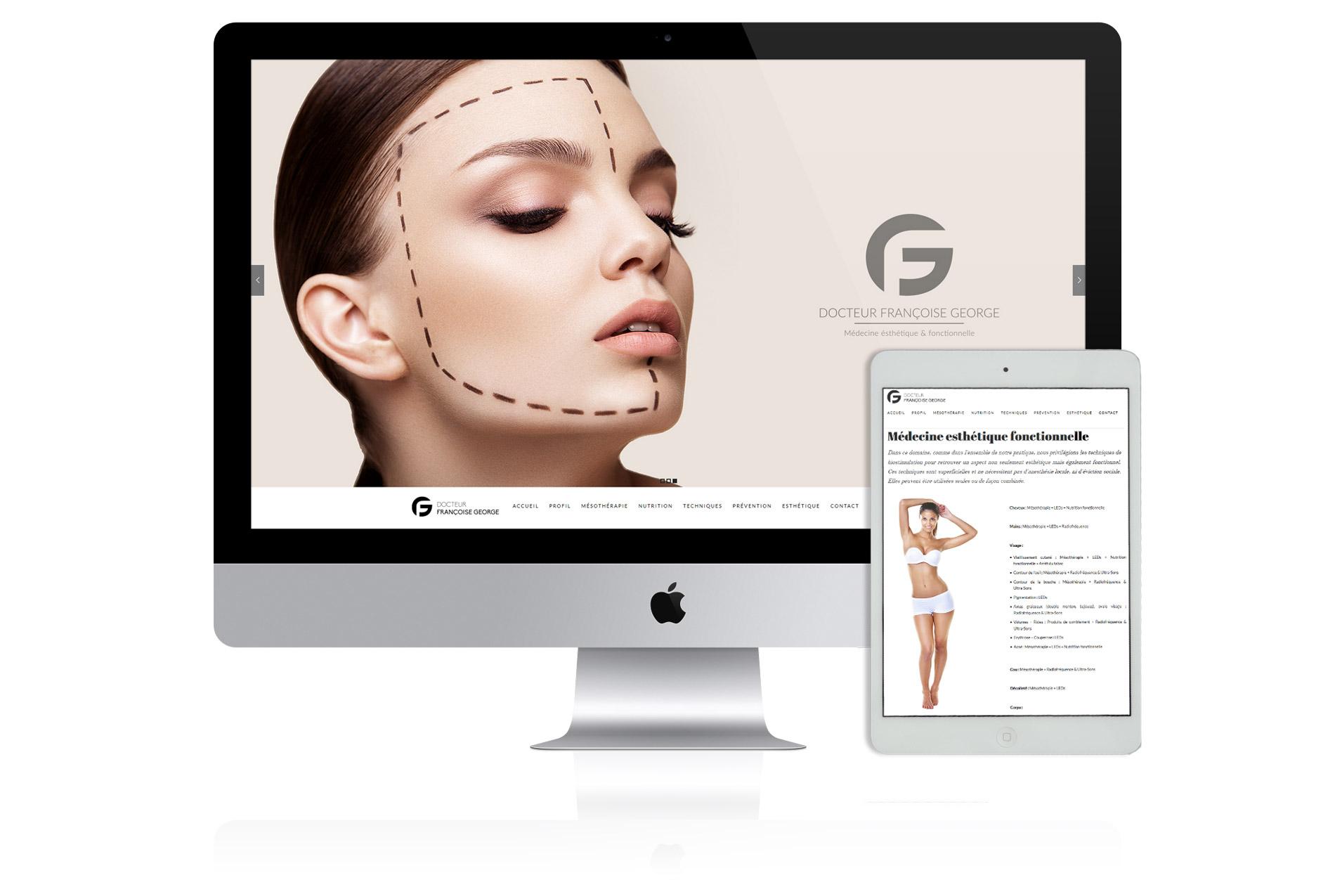 Création site web Dr George nice