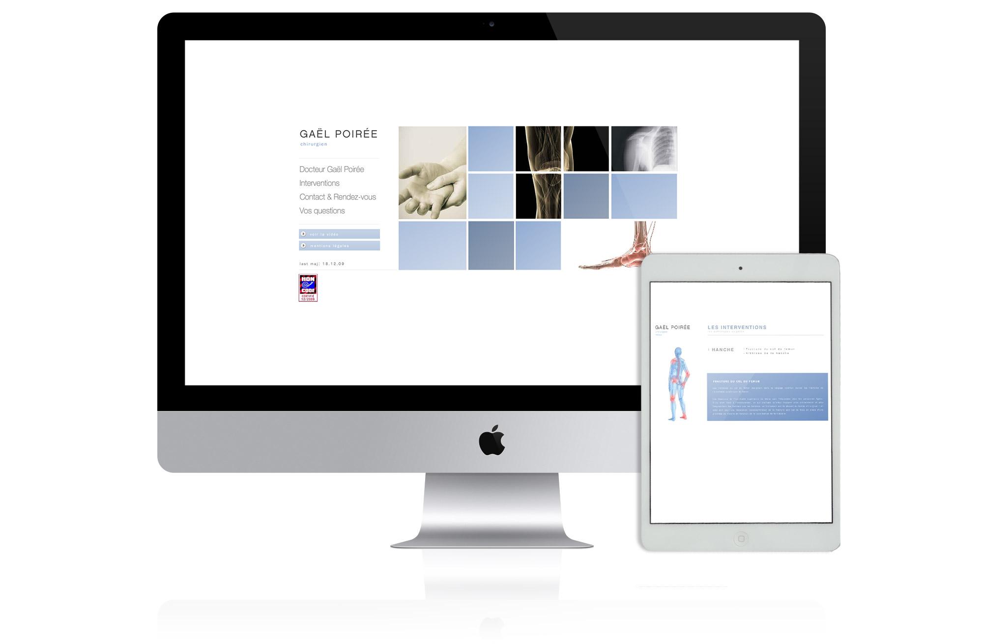 création site web docteur POirée