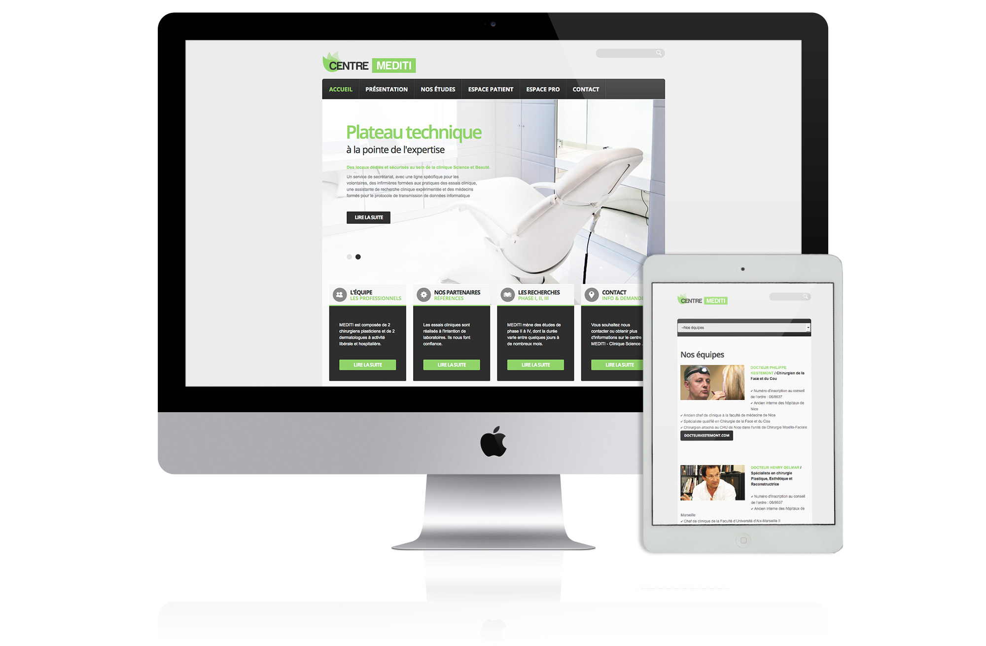 site web établissement santé Mediti