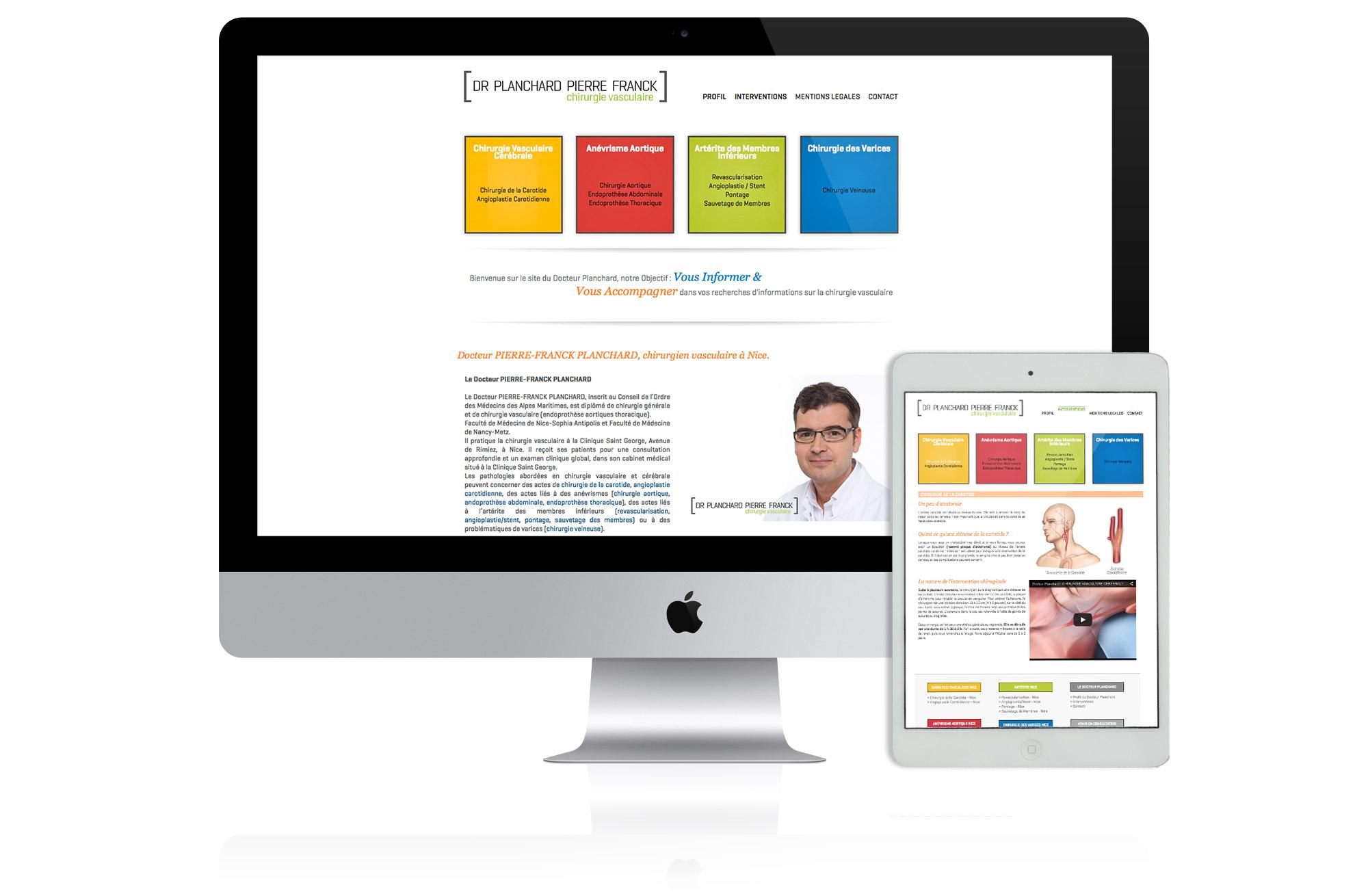 création site web docteur planchard