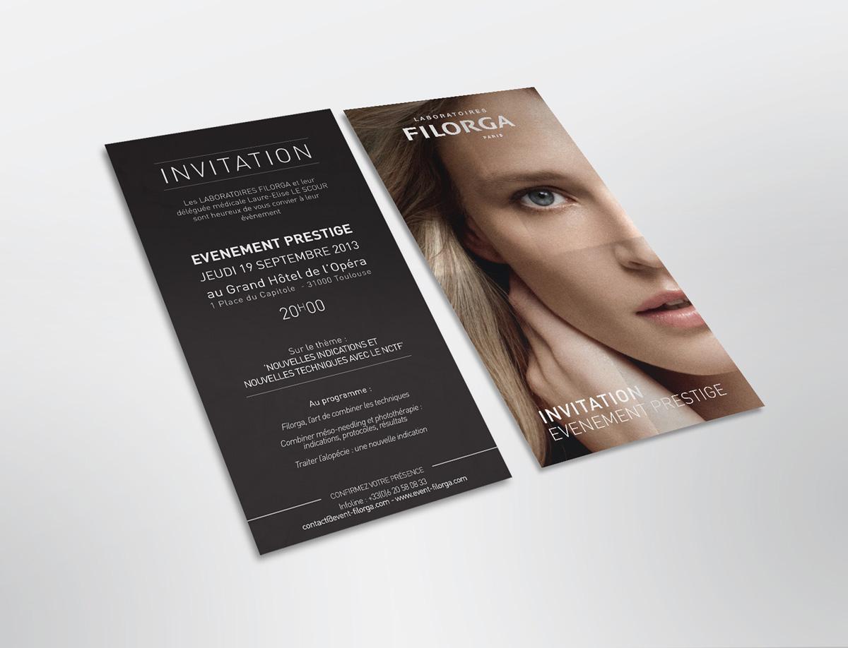 flyer invitation filorga