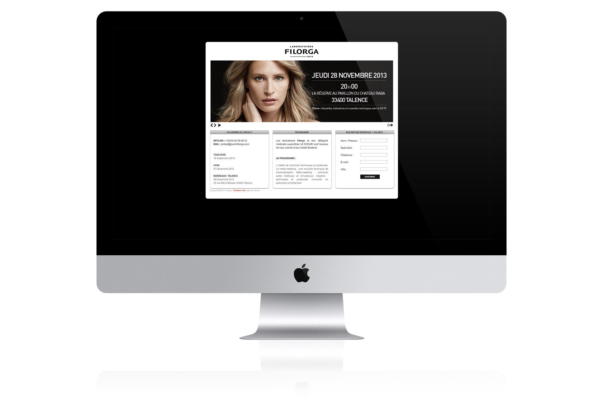 plateforme web invitation filorga