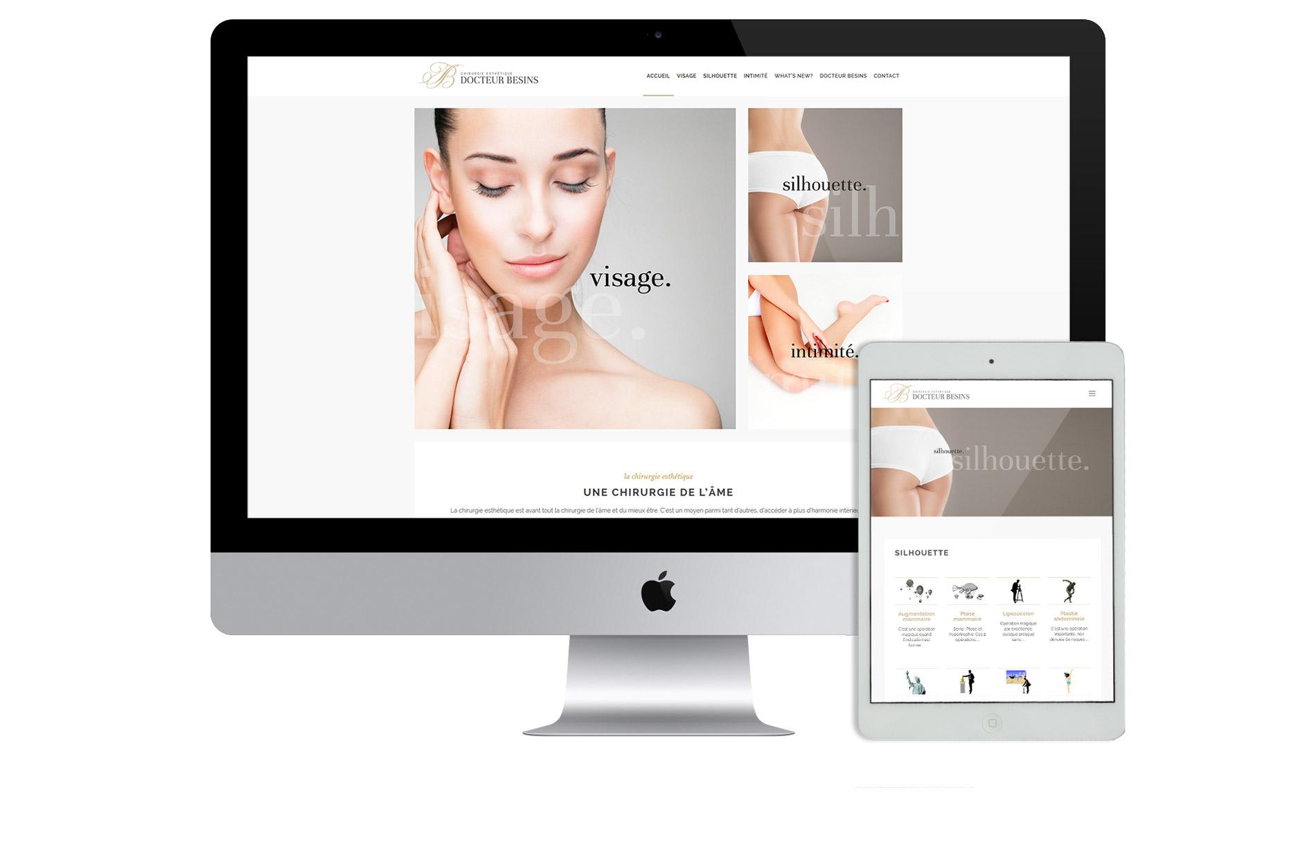 Création site web Dr Besins nice